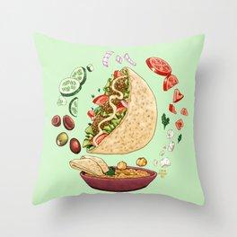 Falafel Mandala Throw Pillow