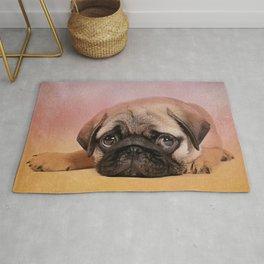 Pug puppy  Digital Art Rug