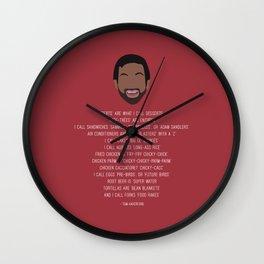 Tom Haverford-isms Wall Clock