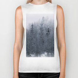 Winter forest Biker Tank