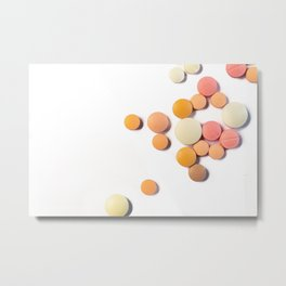 Drugs in the form of drugs on white background Metal Print