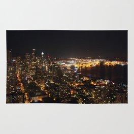 Seattle Night Lights - Great Wheel Rug