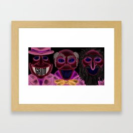 Grim, Grinning, Ghosts. Framed Art Print