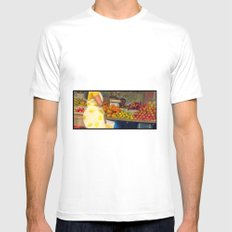 Torso at Fruit Stand, Chennai Mens Fitted Tee White MEDIUM