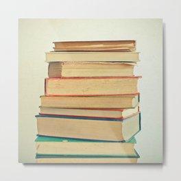 Stack of Books Metal Print
