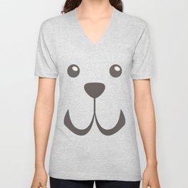 Dog Emoji Cute Fila Brasileiro Unisex V-Neck