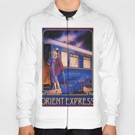 Vintage Orient Express Steam Engine Train Travel Poster Hoody