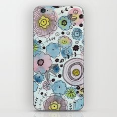 Blue and purple flowers iPhone & iPod Skin