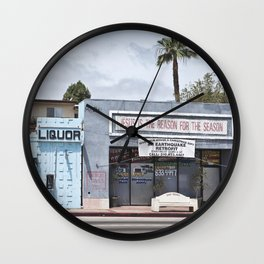 Liquor Store San Pedro Wall Clock