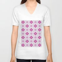 knit V-neck T-shirts featuring knit argyle by colli1.3designs