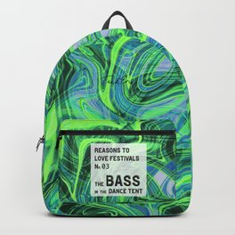 Reasons to Love Festivals | No. 03 | THE BASS IN THE DANCE TENT Backpack