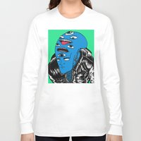 snl Long Sleeve T-shirts featuring Saturday Night Nightmare by Late Nite Draw