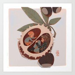 in a nut shell Art Print