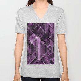 Abstract violet pattern Unisex V-Neck