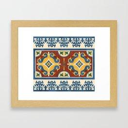 traditional Kazakh ornament Framed Art Print