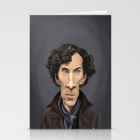 cumberbatch Stationery Cards featuring Celebrity Sunday ~ Benedict Cumberbatch by rob art | illustration