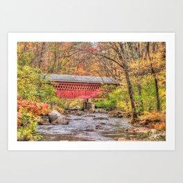 Nissitissit Covered Bridge Art Print