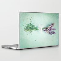 lavender Laptop & iPad Skins featuring lavender by Sylvia Cook Photography