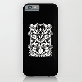 Maori mask detailed mask wild maori new zealand iPhone Case