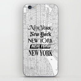 New York City black and white New York poster I love heart NYC Design black-white home wall decor iPhone Skin