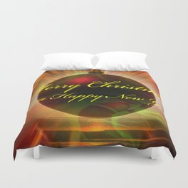 Merry Christmas and a Happy New Year Duvet Cover