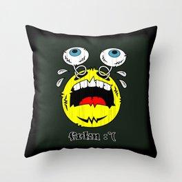 FREAKIN' CRYING EMOTICON! Throw Pillow