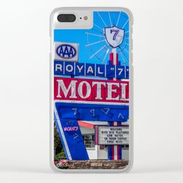 The Royal 7 Motel, Vintage Motel Signs, Bozeman, Montana Clear iPhone Case