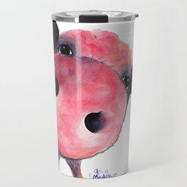 Nosey Pig ' CLARENCE ' by Shirley MacArthur Travel Mug