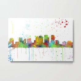 Tampa, Florida Skyline Metal Print