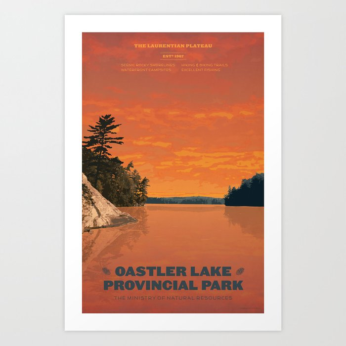 Oastler Lake Provincial Park Art Print