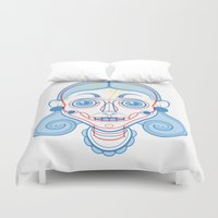 rare Duvet Covers featuring A Rare Girl by Ukko