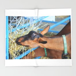 Portrait Of A Goat 2 Throw Blanket