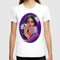 jasmine T-shirts featuring Jasmine by Little Lost Forest