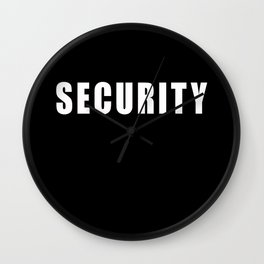 SECURITY TEE SHIRT Wall Clock