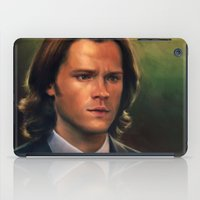 sam winchester iPad Cases featuring Sam Winchester from Supernatural by Annike