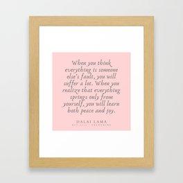 128   | Dalai Lama Quotes 190504 Framed Art Print
