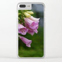 Foxgloves Clear iPhone Case