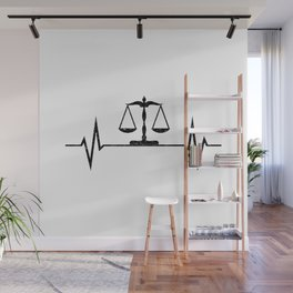 Scales Of Justice Heartbeat Lawyer Judge Wall Mural