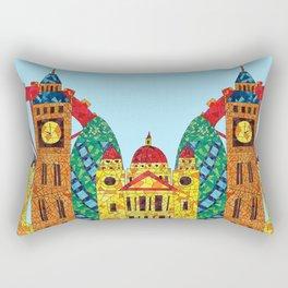 London Icon Building Mozaic Rectangular Pillow