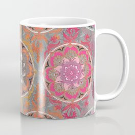 Hot Pink, Magenta and Orange Super Boho Medallions Coffee Mug