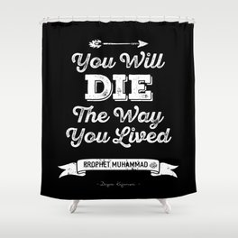 QUOTES Shower Curtain