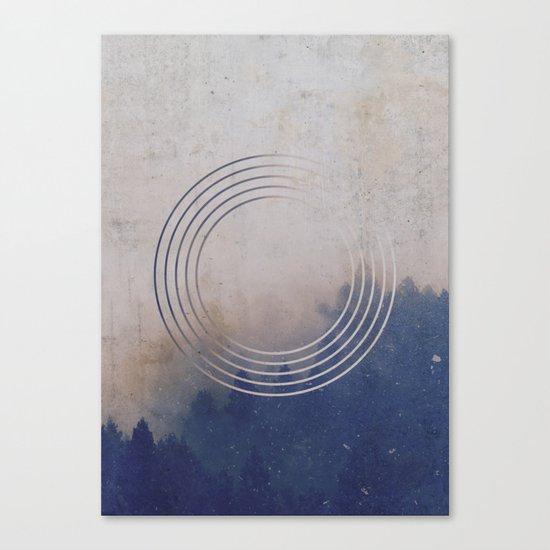 Circles into the Fog Canvas Print
