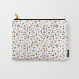 Robots-Pink Carry-All Pouch