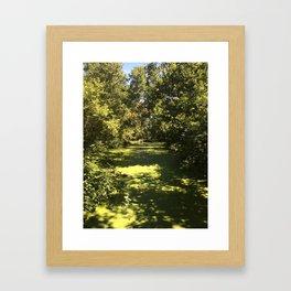 Going Super Green Framed Art Print