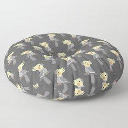 Cute cockatiel Floor Pillow