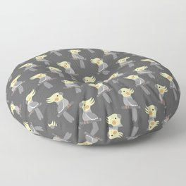 Cute cockatiel Floor Pillow