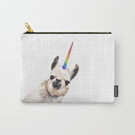 Sneaky Unicorn Llama White Carry-All Pouch
