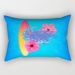 Surfer Girl Rectangular Pillow