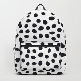 Hand Drawn Polka Dots, Spots Black &  White Backpack