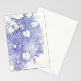 Lotus in blue Stationery Cards